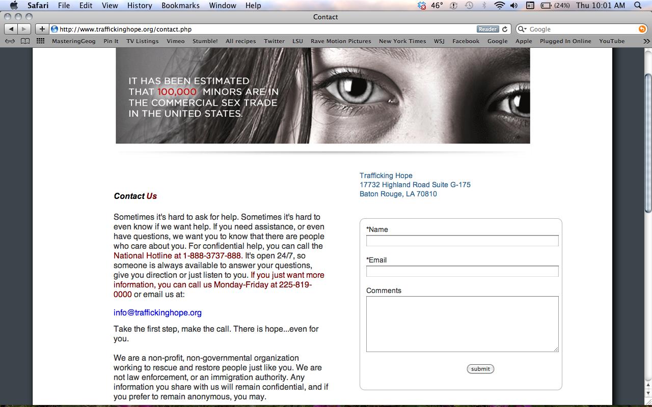 Human Trafficking Hope Trafficking Hope 39 s Website