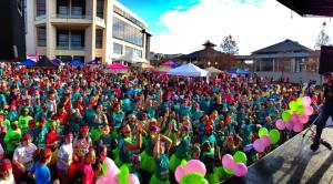 The Girls on the Run spring 2013 5k hosted over 5,000 enthusiastic particpants.