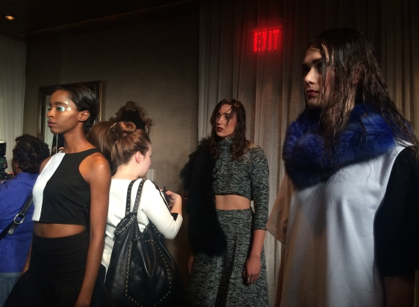 Models during Noel Martin's FW'14 show.