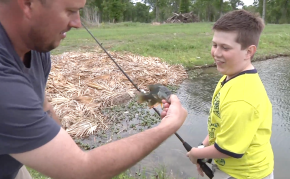 An outdoor disabled ministry catching fish and men