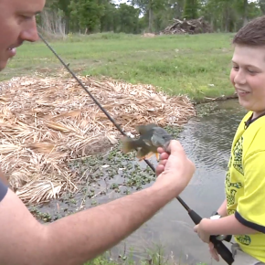 An outdoor disabled ministry catching fish andmen